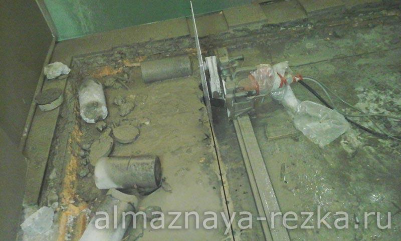 Демонтаж перекрытия под лифт